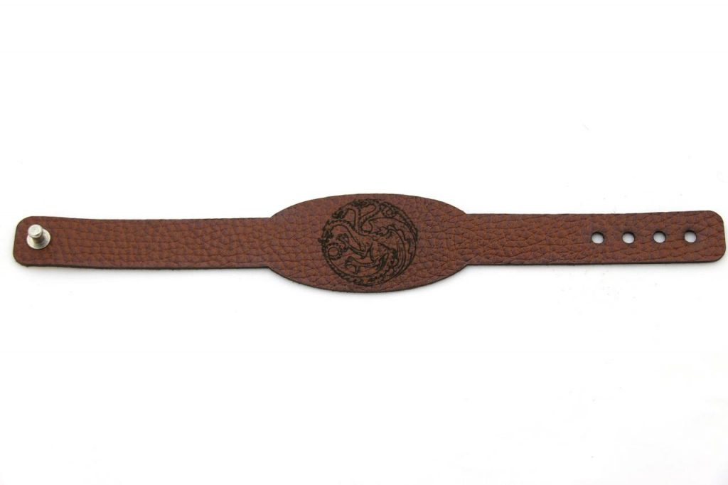 دستبند چرمی نماد تارگریان