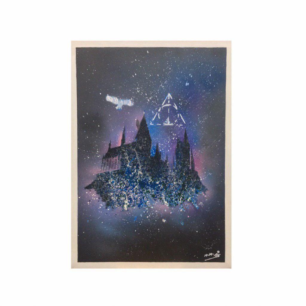 تابلو نقاشی رنگ روغن طرح هری پاتر